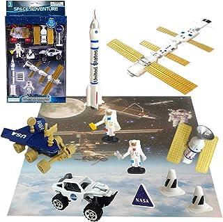 ArtCreativity 10 Pc Space Explorer Toy Kit, Pretend Play Set with Astronaut Figurines, Robotic Exploration Truck, Die Cast...