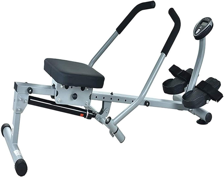 WJFXJQ Rowing Machine,Double Handle Rowing Machine,Household Fol