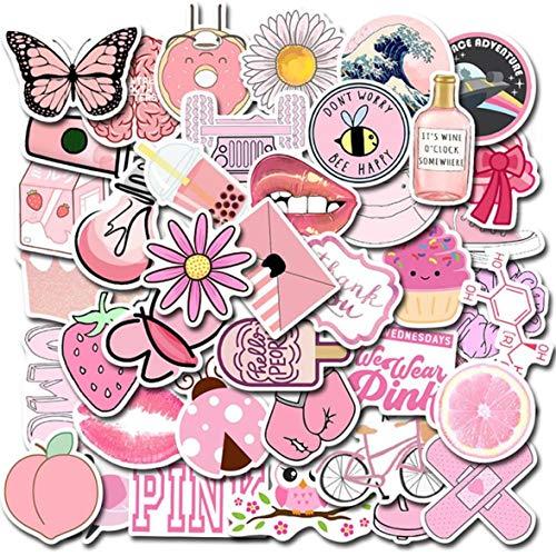 Barney voordelig 50 Stks roze serie Cartoon decoratieve Stickers voor Laptop Bike Skateboard stickers, Eén maat, 1 x Polsband