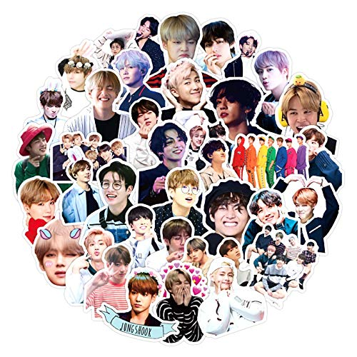 Beason Pretty group Kpop stickers for skateboard, helmet, gift box, bicycle, computer, notebook, car, children's toys, etc. 50 pieces / pack 30 pieces mixed version.