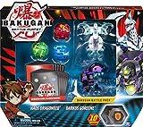 Bakugan, Paquete de 5 batallas, Haos Dragonoid y Darkus Goreene, cartas coleccionables y figuras, para edades de 6 y más