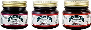 Cherchies Gourmet Hot Pepper Jam Collection Gift Box - Strawberry, Cranberry, Cherry - 10 Ounces Each Jar