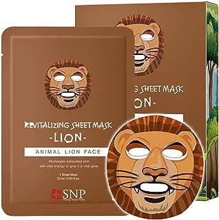 SNP - Animal Lion Revitalizing Korean Face Sheet Mask - 10 Sheet Pack