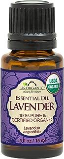 Sponsored Ad - US Organic 100% Pure Lavender Essential Oil (Bulgarian) - USDA Certified Organic - 15 ml - w/Improved caps ...