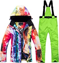 Women's One Pieces Ski Suits Warm Winter Outdoor Waterproof Snowsuits Windproof Ski Jacket for Snow Sports
