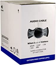 Audio Cable, 16AWG, 4 Conductor, 65 Strand, 500 ft, PVC Jacket, Pull Box, Black