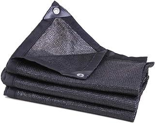 BYCDD 85% Sunblock Sun Shade Cloth, Breathable Sunshade Fabric Greenhouse Shade Net Mesh Tarp for Deck Carport Pool Garden,Black_3x6m/9x18ft
