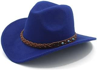 HaiNing Zheng Winter Spring Western Cowboy Hat For Womem Men Wide Brim Cowgirl Jazz Cap With The belt
