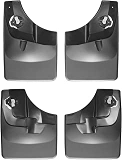 WeatherTech Custom MudFlaps for Ford F-150 - Front & Rear Set Black (110044-120044)