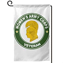 BJHYQSMQ Womens Army Corps Veteran Garden Flag,Party Flag,Garden Flag Vertical Double Sided 12.5 X 18 Inch Summer Courtyard Decor,/Events/Family/Anniversary