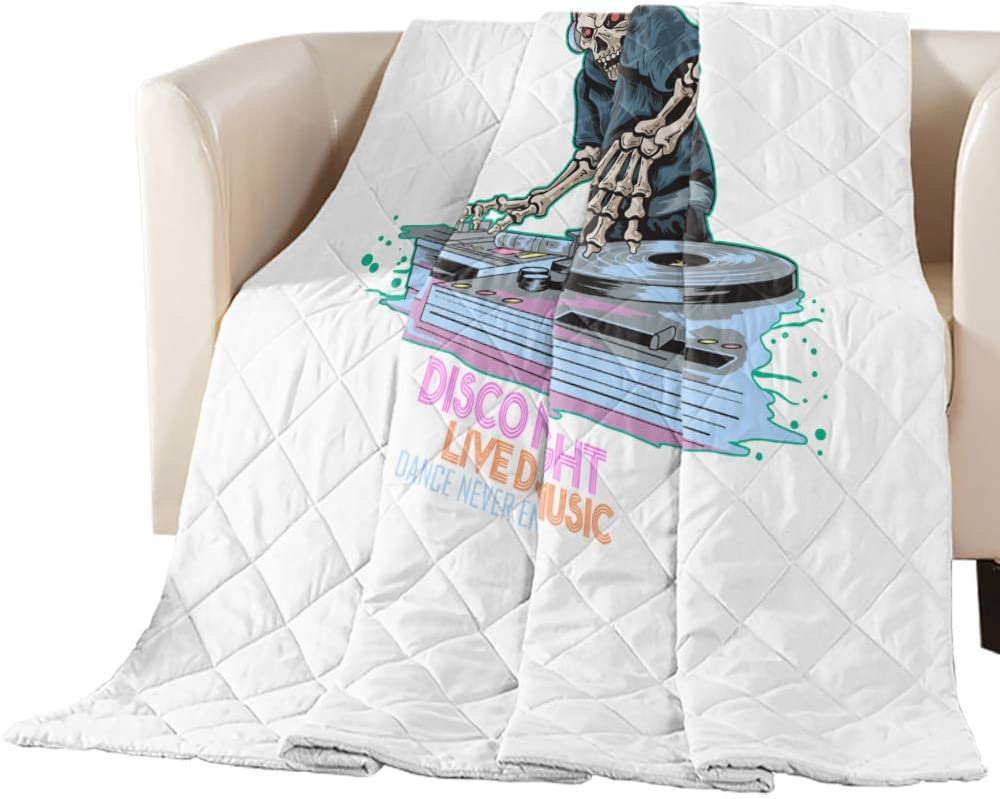 EZON-CH Playing DJ's Skull Man Oversized Bedding Comfort Quilted Max 46% OFF Philadelphia Mall