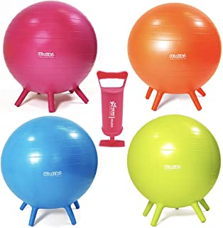 WALIKI Adult Size Chair Ball with Feet 4 Pack   Alternative Classroom Seating   30