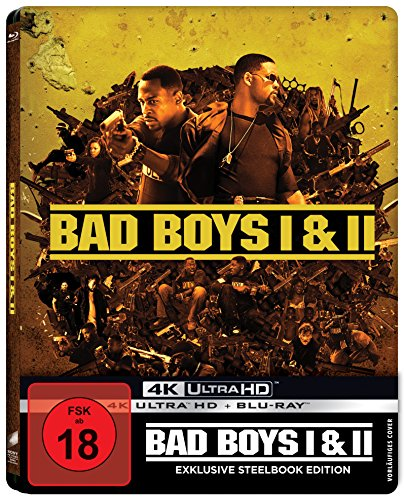 Bad Boys - Harte Jungs & Bad Boys 2 (Steelbook) [4 Discs, 2x UHD/ 2x Blu-ray] [Limited Edition] (exklusiv bei Amazon.de)