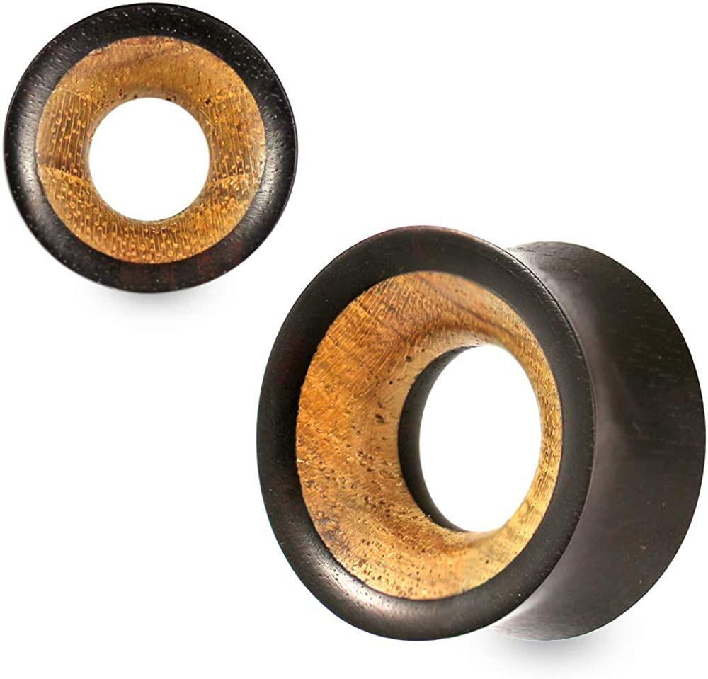 Double Selling Flared Natural Organic Teak and Gauges It is very popular E Tunnel Iron Wood
