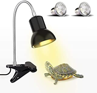 Reptile Heat Lamp, Basking Spot Lamp with Holder & Switch,UVA UVB Reptile Lamp with Fixture for Lizard Turtle Snake Amphib...