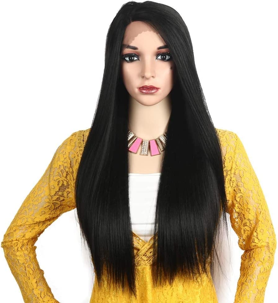 frenma Wigs Front Lace Headgear Split Partially Gifts Silk Yake National products Brown