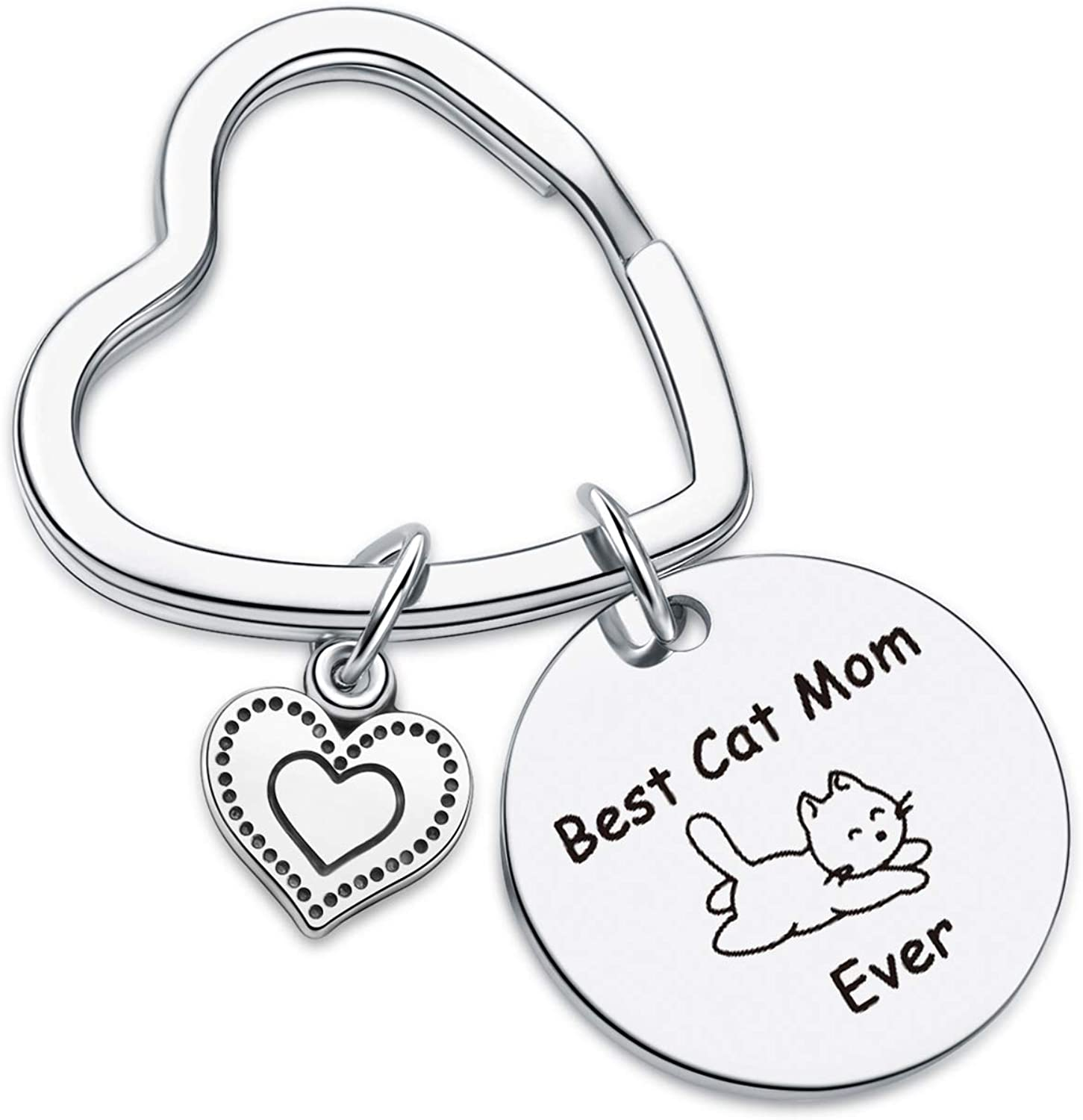 7RVZM Cat Mom Jewelry veterinarian Keychain Pet Lover Gift Mothers Day Jewelry Best Friend Gift Cat Person Keychain