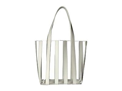 Loeffler Randall Marlena Pieced Tote (White/Clear) Handbags