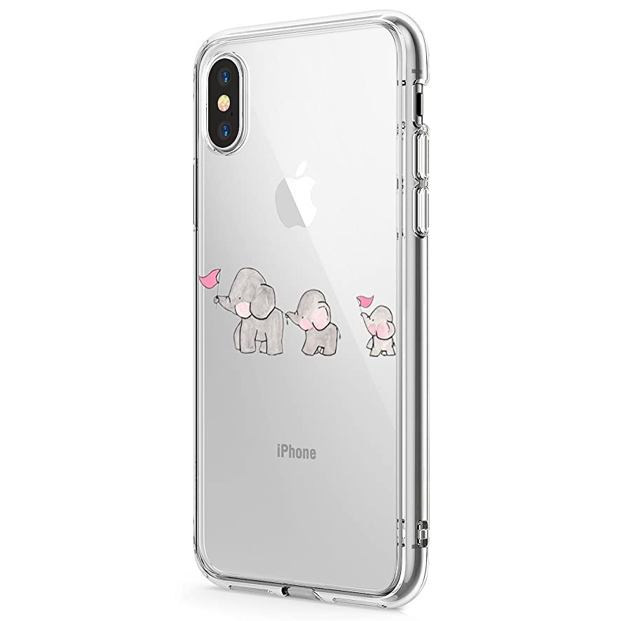 Case Compatible with iPhone X Case Silicone Gel Rubber Cover Clear Cute TPU Protect Bumper Phone Case for iPhone XR/Xs Max