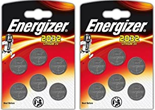 12 x Energizer CR2032 Coin Lithium 3V Battery Batteries for Watches Torches Keys