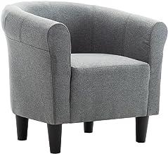 vidaXL Armchair Light Grey Fabric