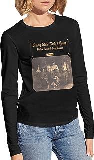 Women's Long Sleeve Blouse Woman's Black T-Shirt Cool