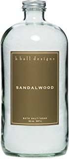 k. hall designs Sandalwood Bath Soak 32 oz.