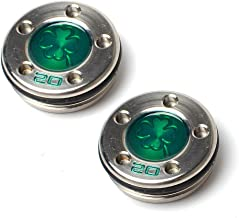 GOOACTION Golf Custom Putter Weights Green Four-Leaf Clover Pattern 2pcs (15g 20g) Available for Scotty Cameron Putter Club