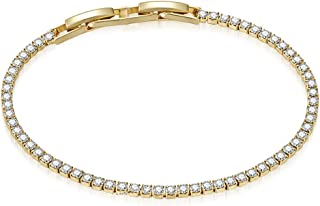 Mestige Women's Golden Olivia Bracelet with Crystals from Swarovski