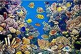 Lsdakoop Kit de pintura por números con pinceles y pigmento acrílico DIY pintura lienzo para adultos principiante color acuario 40x50cm sin marco