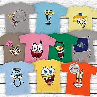 Spongebob-and-Friends Costume Halloween Group Matching Cartoon Characters Customized Handmade Hoodie/Sweater/Long Sleeve/Tank Top/Premium T-shirt