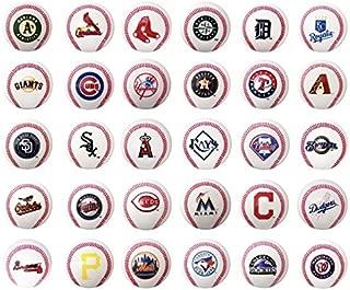 fb Set of 30 Major League Baseball Mini Baseballs. MLB Complete Set Team Logos. Cake Toppers.