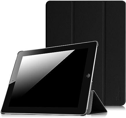 Fintie iPad 2/3/4 Case - Lightweight Slim Tri-Fold Smart Stand Cover Protector Supports Auto Wake/Sleep for iPad 4th Generation with Retina Display, iPad 3 & iPad 2 - Black
