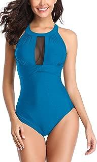 Women Swimsuit Cutout Mesh Plus Size Bathing Suit Tummy Control Swimwear