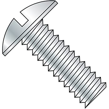 Zinc Plated Finish Meets ASME B18.6.3 Steel Truss Head Machine Screw 1 Length Imported Fully Threaded Pack of 25 Slotted Drive 5//16-18 Thread Size