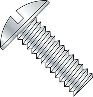 Zinc Plated Finish Slotted Drive Binding Head #6-32 Threads 3//4 Length Steel Machine Screw Pack of 100