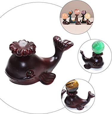 TOYANDONA Crystal Ball Base Stand Whale Figurine Gazing Globe Holder Animal Cake Topper Sphere Display Stand Ostrich Egg Tray