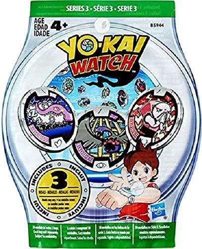 Yo-kai Watch 1 Sobre con 3 medallas sorpresa cada uno, Multicolor (B5944EU40)
