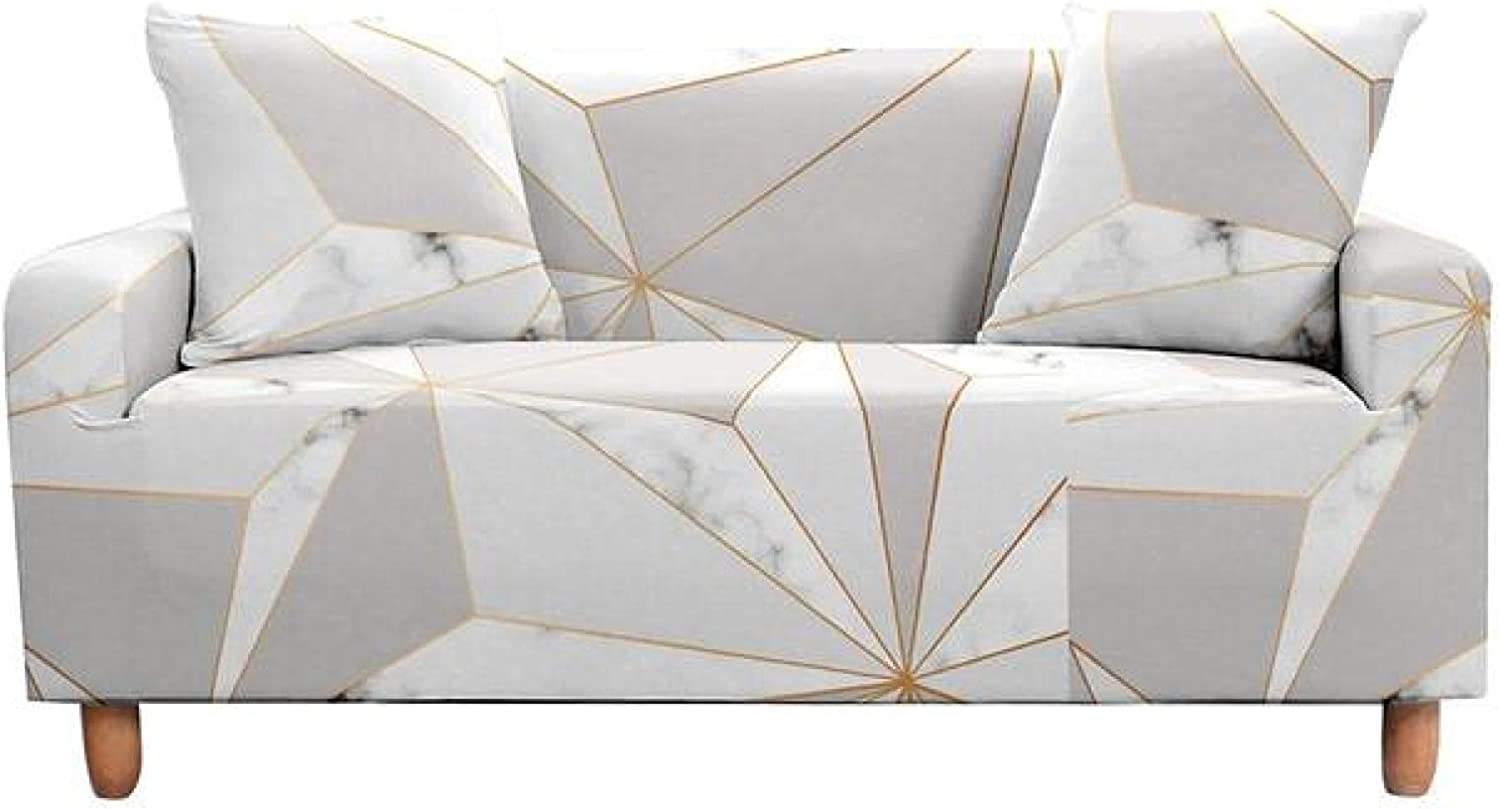 ZHOUMOLIN Geometric Marble Ranking TOP2 Sofa Sectional Covers Cover Max 62% OFF Couc