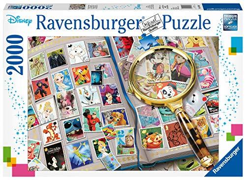 Ravensburger Puzzle 16706 - Meine liebsten Briefmarken - 2000 Teile Puzzle für Erwachsene und Kinder ab 14 Jahren, Disney Puzzle mit Mickey Maus & Co