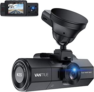Vantrue N2S Dual 1440P Front and Inside Dash Cam, Single Front 4K Car Camera, 2 inch Dash Camera with Infrared Night Visio...