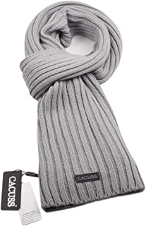 CACUSS Men's Long Thick Cable Cold Winter Warm Scarf Soft Knitted Neckwear