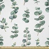 ABAKUHAUS Eukalyptus Stoff als Meterware, Aquarell wie