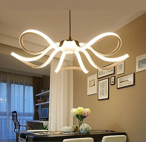 GAOXP Lustre Salon Lampe Simple Postmoderne LED Restaurant Lumières Nordique Mode Creative Fleur Chambre Lampe