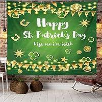 St.Patrickの日タペストリーの壁掛けのシャムロッククローバーの壁タペストリーリビングルームのベッドルームのための吊り下げアートの装飾,4,230*150cm