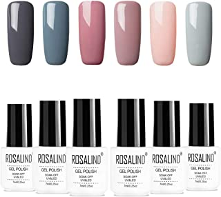 ROSALIDN esmalte semi-permanente para uñas kit 6pcslot Color desnudo uv gel polish manicura set 7ml…