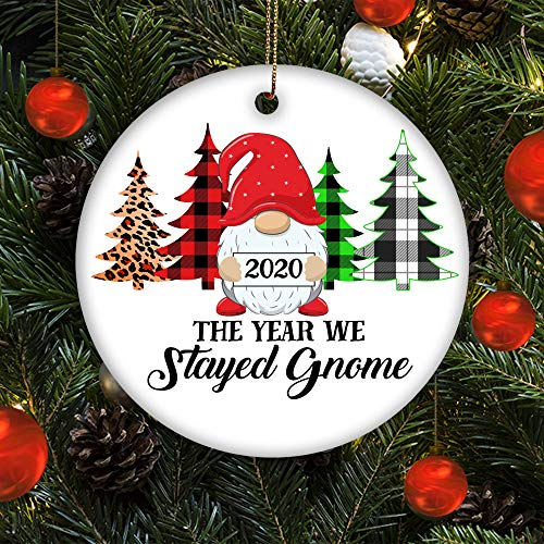 None-brands 2020 The Year We Stayed Home Gnome Christmas Decoration Christmas Ornament 2020 Pandemic Ornament Christmas Pendants Year of Quarantine Keepsake Gift