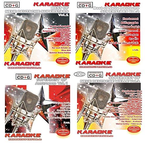 Karaoke CD+G Party Set 4 - Neue Deutsche Superstars - Neue Deutsche Welle - Austropop