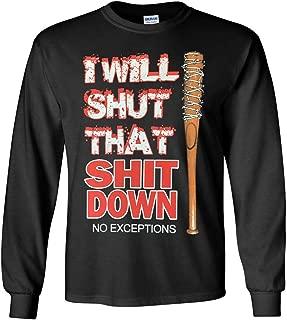 The Walking Dead I Will Shut That S Down T-Shirt - Negan Walking Dead Shirt Unisex S-5X