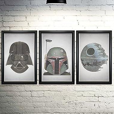 Star Wars Word Art Print Three Set - 11x17  - Every Line of Dialogue